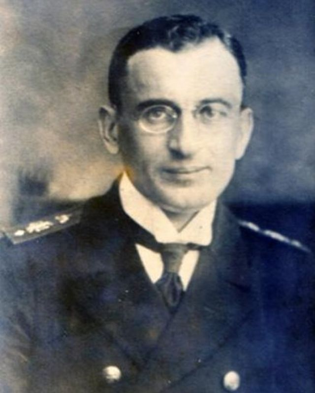 Capt. Nikola Todorov (1886-1947), the first commander of the first Bulgarian submarine. Photo: Varna Naval Museum