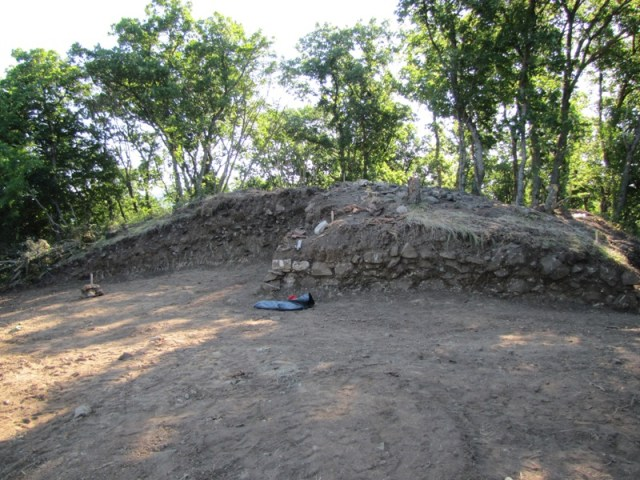 Part of the excavated ruins of Pharmakida, a fortified Ancient Thracian ruler's residence from the 2nd-1st century BC. Photo: Primorsko Municipality