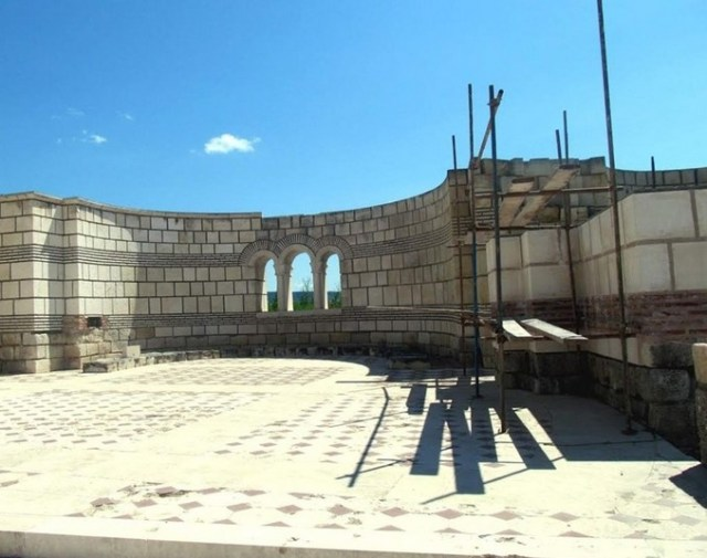 Recent photos of the restoration of the Great Basilica in Pliska by the Trud daily, as of June 1, 2016. Photos: Trud daily