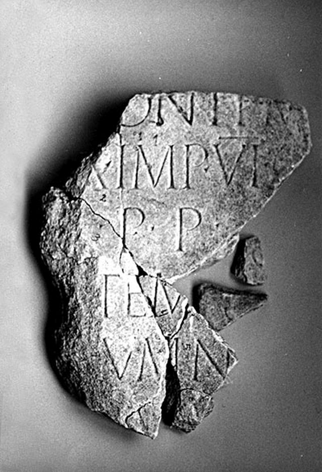 This fragment from a marble slab with a partially preserved inscription in Latin indicates that Emperor Trajan built a bridge near today's Bulgarian town of Troyan. Photo: National Museum of History