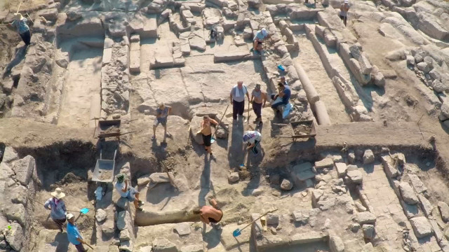 Other aerial views of the newly discovered Early Christian basilica in the rock city of Perperikon in Southern Bulgaria. Photos: bTV