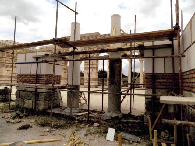 A recent photo of the ongoing archaeological restoration of the 9th century Great Basilica in the early medieval Bulgarian capital Pliska. Photo: National Museum of History