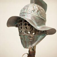 Exhibition Showcases Gladiator Helmets from Hollywood Films in Bulgaria's Black Sea Resort Tsarevo