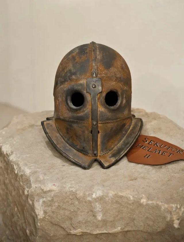 More of the gladiator helmet replicas included in the exhibition. Photos: Bird Art Studio