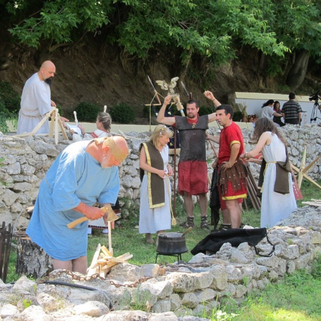 The Roman Market of the Ancient Thracian fortress has been held since 2012. Photo: BGNES