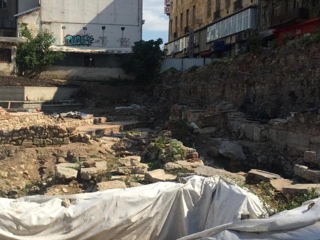 The northern section of the archaeological site of Serdica's Western Gate. Photo: Sofia Mayor Facebook Page