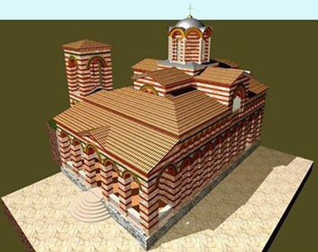 A 3D computer reconstruction of Church No. 8 in the Trapesitsa Fortress by architect Plamen Tsanev. Photo: Yantra Dnes