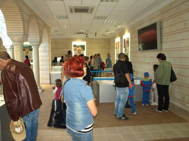 "The first tourists are seen visiting the interactive exhibition center (called ""Center for Cultural Heritage Interpretation"") of the newly restored Trapesitsa Fortress. Photo: Veliko Tarnovo Regional Museum of History Facebook Page"