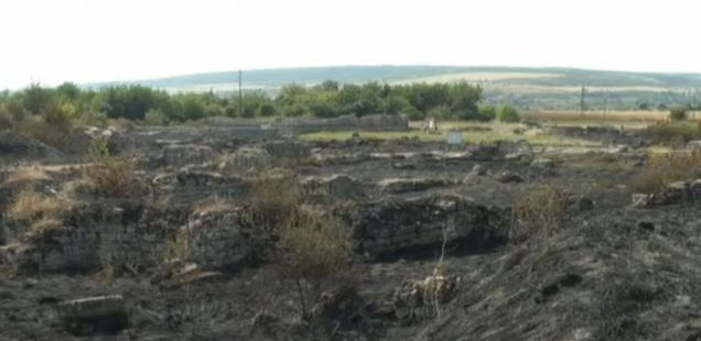 Suspected Arson by Treasure Hunters Destroys Ruins of Glorious Roman City Ulpia Oescus near Bulgaria's Gigen