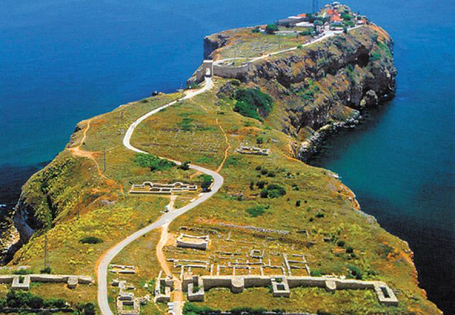 "A view from the north of the outer and inner city of the Cape Kaliakra Fortress in Northeast Bulgaria. Photo: Sveti Mesta (""Holy Sites"")"