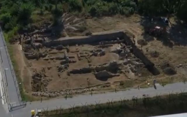 Ruins of ancient Novae exposed in the 2016 archaeological excavations. Photo: TV grab from the Bulgarian National Television