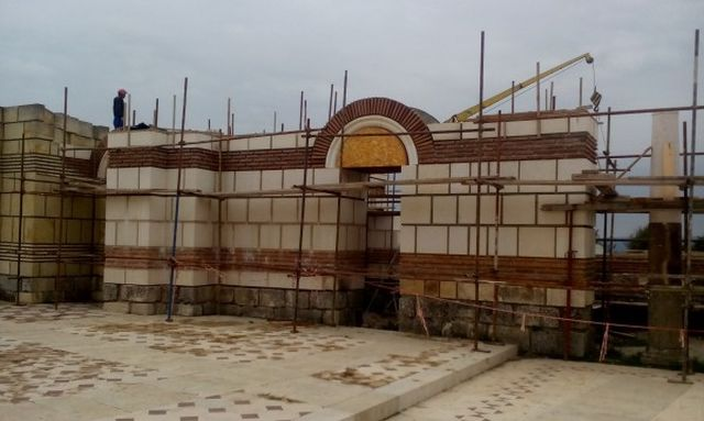 The ongoing restoration of the 9th century Great Basilica in Pliska, one of the capitals of the First Bulgarian Empire. Photo: National Museum of History