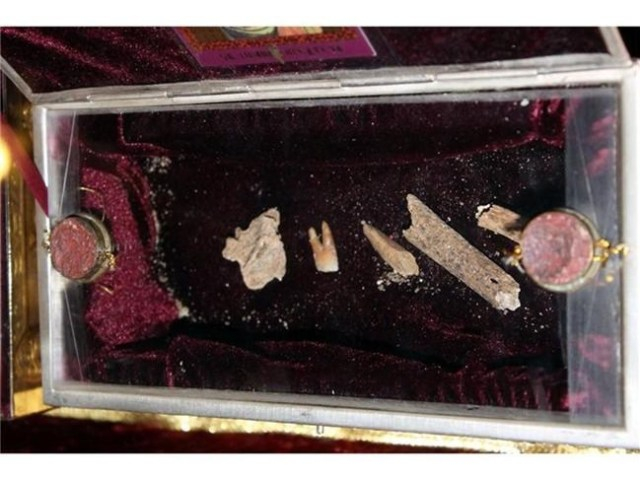The relics of St. John the Baptist discovered in 2010 on the St. Ivan Island are kept in the St. Cyril and St. Methodius Church in Sozopol. Photo: 24 Chasa daily