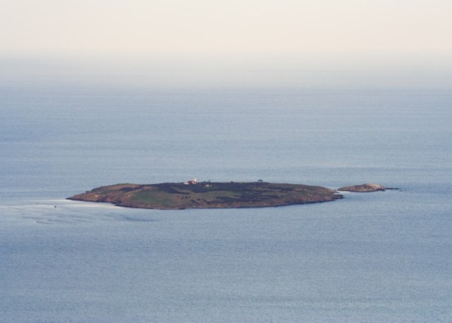 Bulgaria's St. Ivan (St. John) Island off the coast of Sozopol (left) with the smaller St. Petar (St. Peter) Island to the right. Photo: Spiritia, Wikipedia