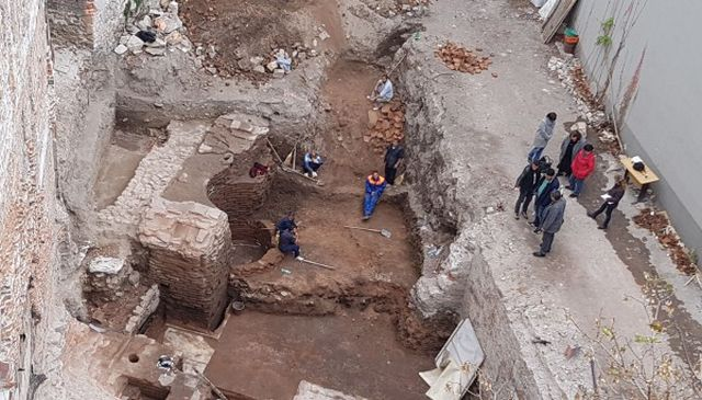 The Ancient Roman thermae have been found during the construction of an apartment building in downtown Plovdiv. Photos: Plovdiv24