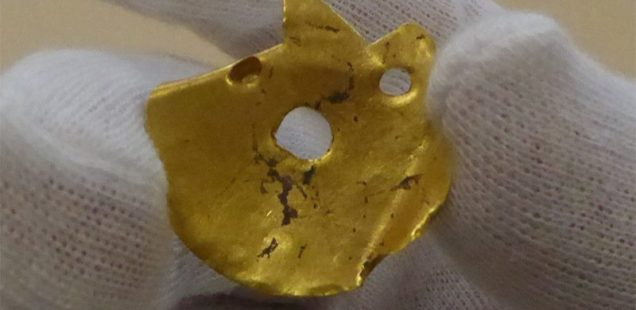 6,500-Year-Old Gold Amulet, Child Skull in Building Foundations Discovered in Bulgaria's Yunatsite Settlement Mound