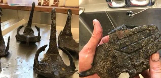 Full Set of Four Early Roman 'Horseshoes' Discovered at UK's Vindolanda Fort near Hadrian's Wall