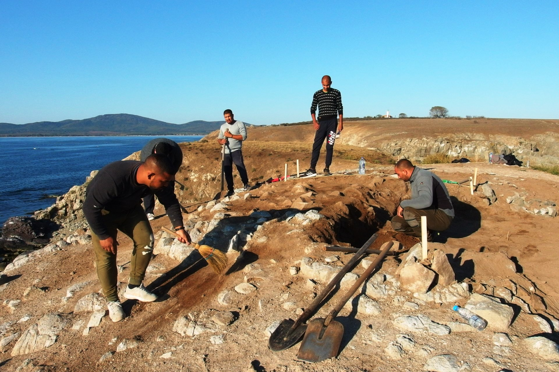 5th Century BC Ancient Greek Shrine Discovered in First Ever Excavations on Tiny St. Peter Island off Bulgaria's Black Sea Coast near Sozopol