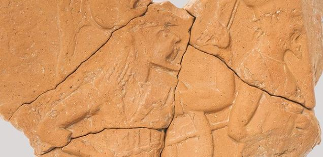 Slab with Marching Ancient Greek Warriors Discovered at Apollo Temples on Ancient Black Sea Island in Bulgaria's Sozopol