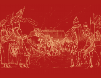 Three medieval worlds. Iuxta castrum Sandouel