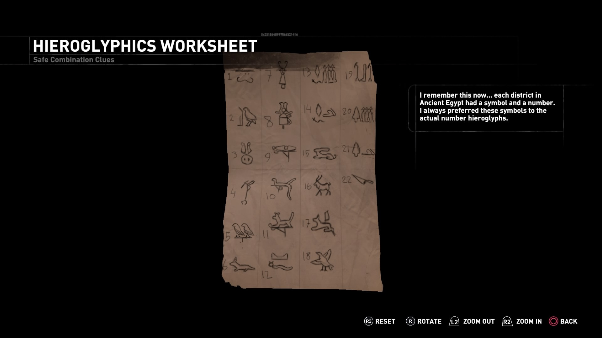 Arte Factual Lara S Hieroglyphics Worksheet Tomb Raider