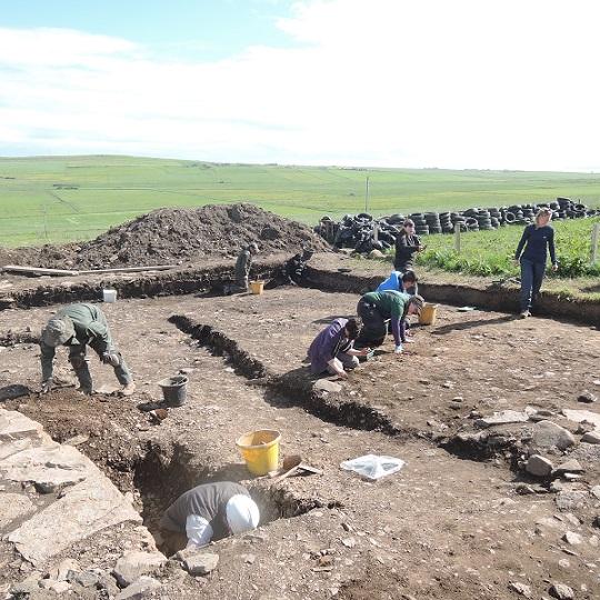The southwest extension under excavation