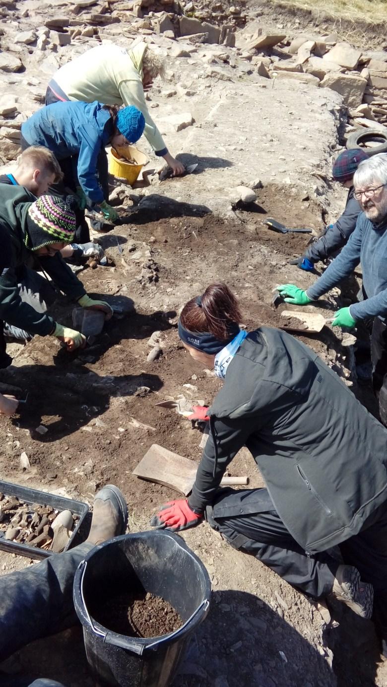 Excavating the baulk in Area Q