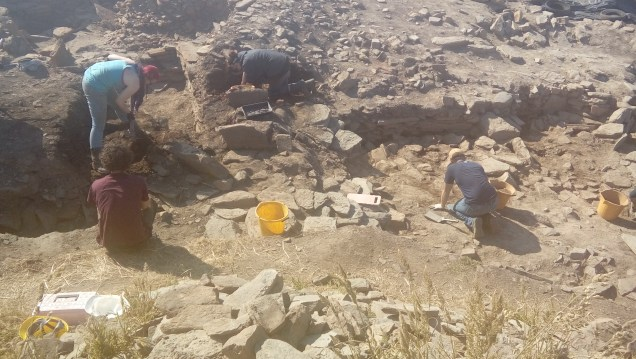 Part of the long wall face in area Q-M under excavation