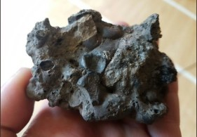 One of the pieces of slag found in Trench 4