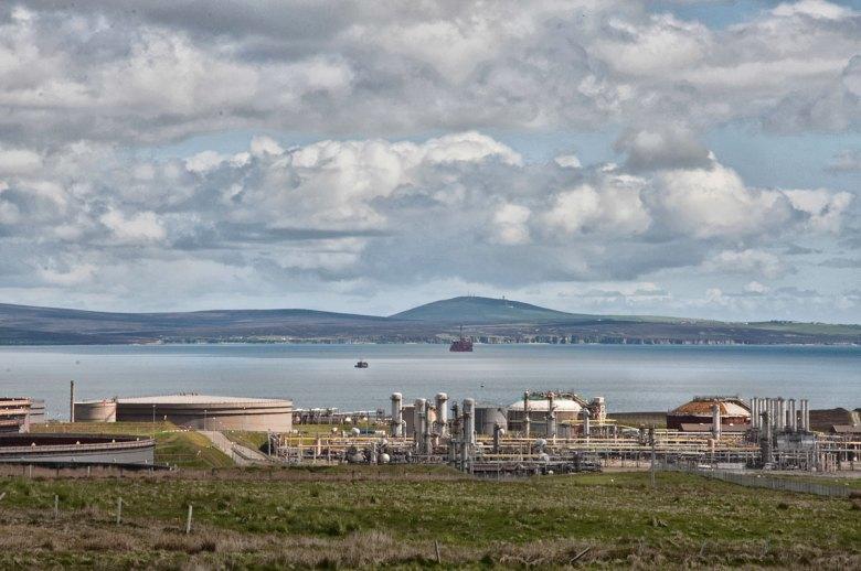 Flotta Oil Terminal. (Rebecca Marr)