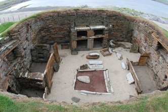 Skara Brae. Heart of Neolithic Orkney World Heritage Site under threat from Atlantic storms. Photograph: Adam Lee.