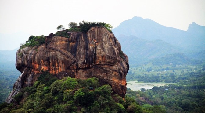Denied Pyramid on Top of the Rock of Sigiriya