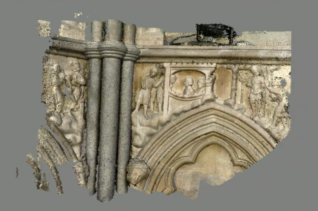 Dense Point cloud of the frieze and surrounding area