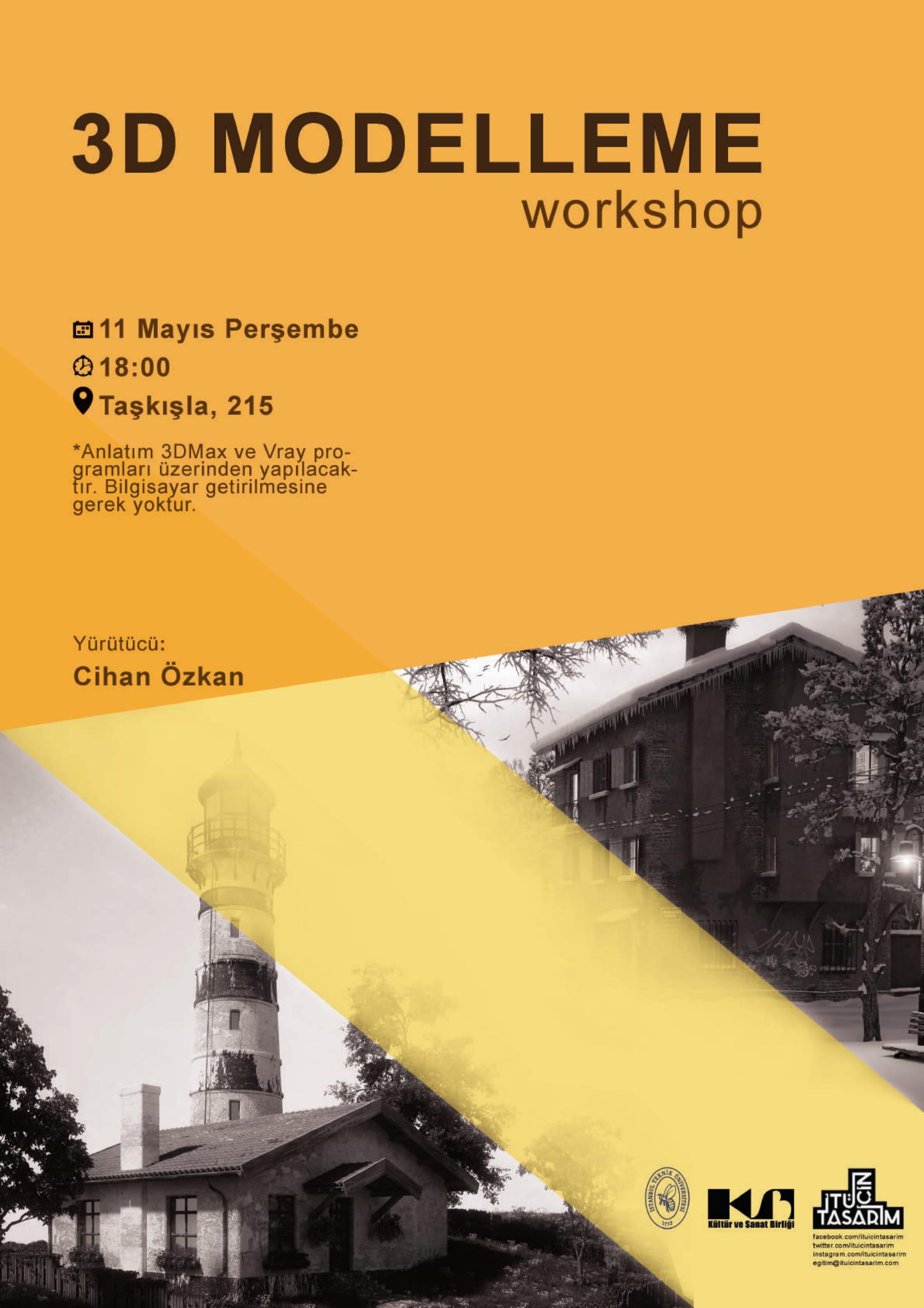 3D Modelling Workshop Poster