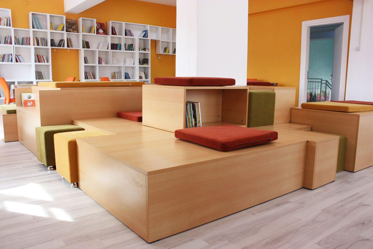 Ayşe Temizel School Library Interior Design