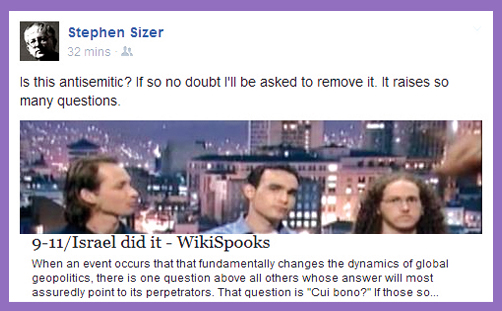 "Rev'd Stephen Sizer: ""Show me evidence Israel wasn't behind 9/11″"