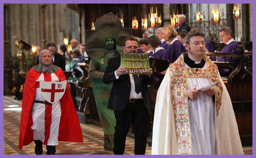 Elevation of the Blessed Asparagus: a Church of England pantomime