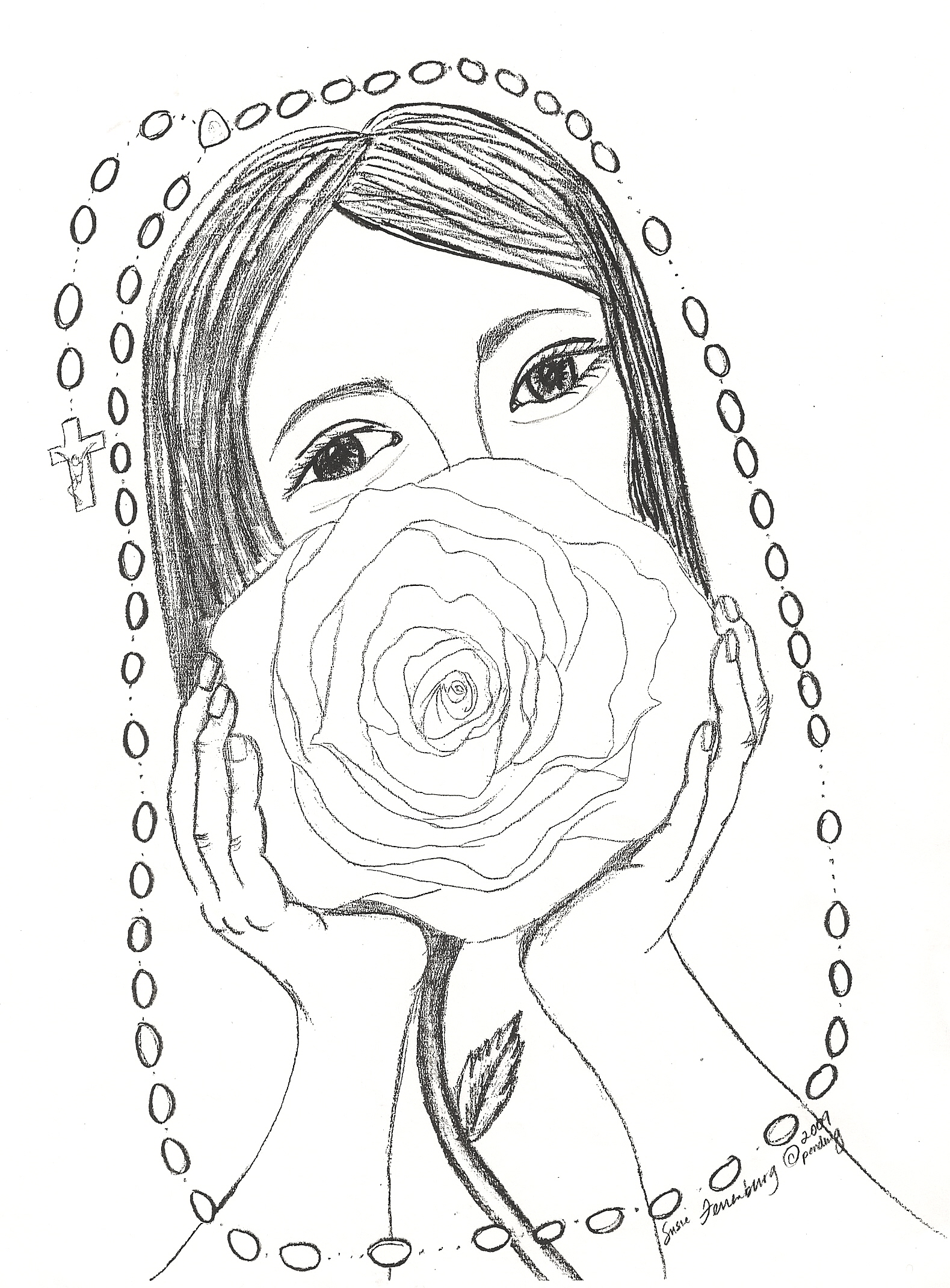 Mary Coloring Pages Printable Sketch Coloring Page