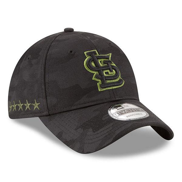huge selection of a12b2 c126d St. Louis Cardinals New Era 2018 Memorial Day 9TWENTY Adjustable Hat – Black
