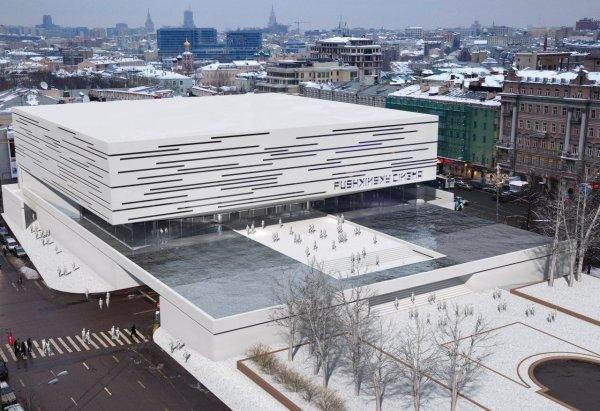 Changing Facade Pushkinsky Cinema Ark Building O25 Archello