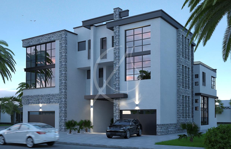 Twin Courtyard Modern House Design  Comelite Architecture Structure and Interior Design  Archello