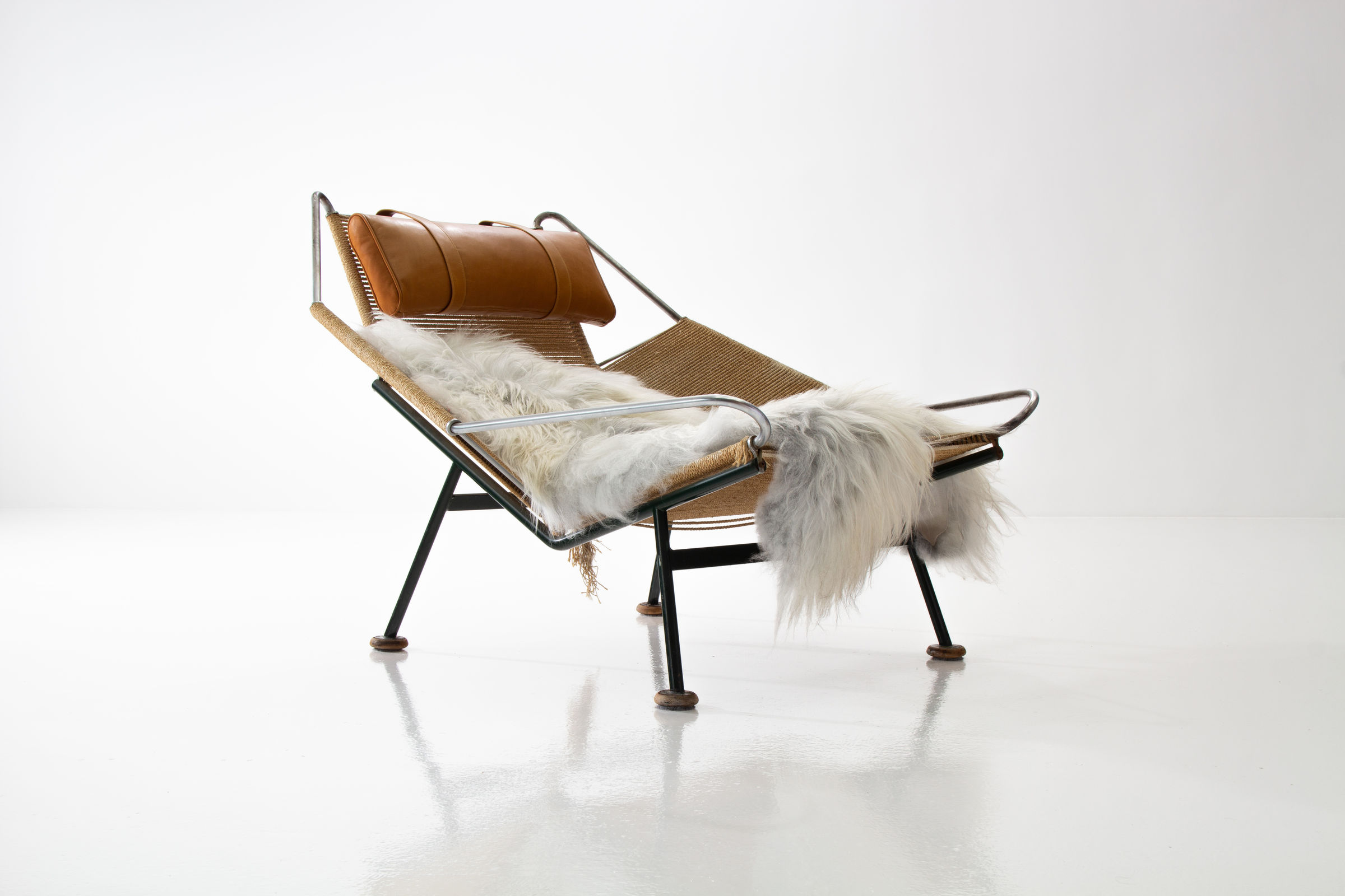 Flag Halyard Chair Early Flag Halyard Chair Ge225 By Hans Wegner With Wooden Feet For
