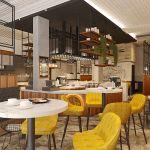 Kim Cafe Industrial Coffee House Design Comelite Architecture Structure And Interior Design Archello