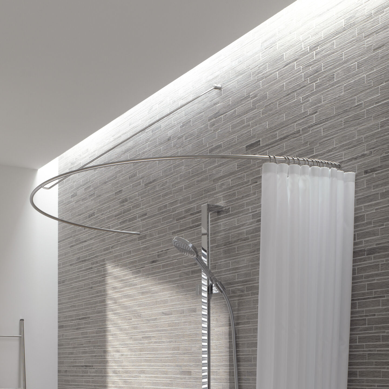 curved shower curtain rod as a semi circle by phos design gmbh archello