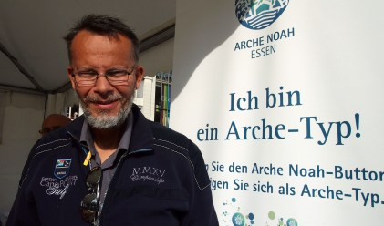 """Dieter Wyes, Essen """"Ich bin ein Arche-Typ, weil ein friedliches Miteinander gut für alle ist."""" Foto: Sonja Strahl"""
