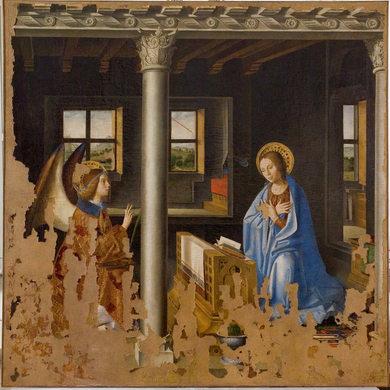 Antonello da Messina - Annunciazione (dopo il restauro)