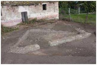 Foggia - S. Lorenzo in Carmignano - Immagine della zona degli scavi