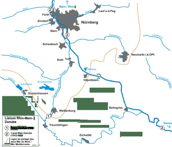 La liaison Rhin-Main-Danube et la Fosse Caroline