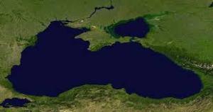 Aperçu satellite de la Mer Noire.