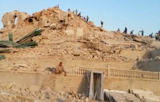Mossoul, ruines de la tombe et de la mosquée du prophète Jonas.